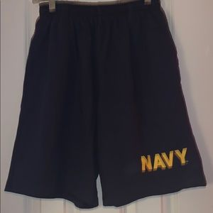 NAVY men's blue athletic shorts S Small